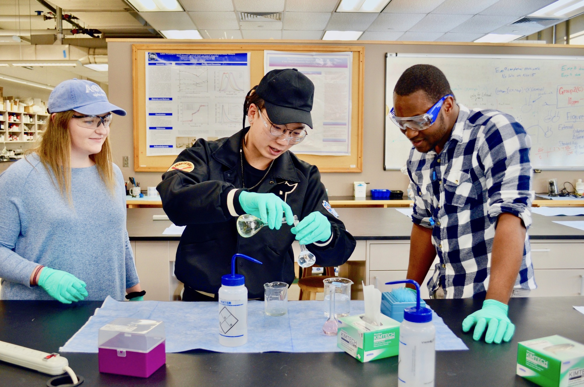 Students working in the lab
