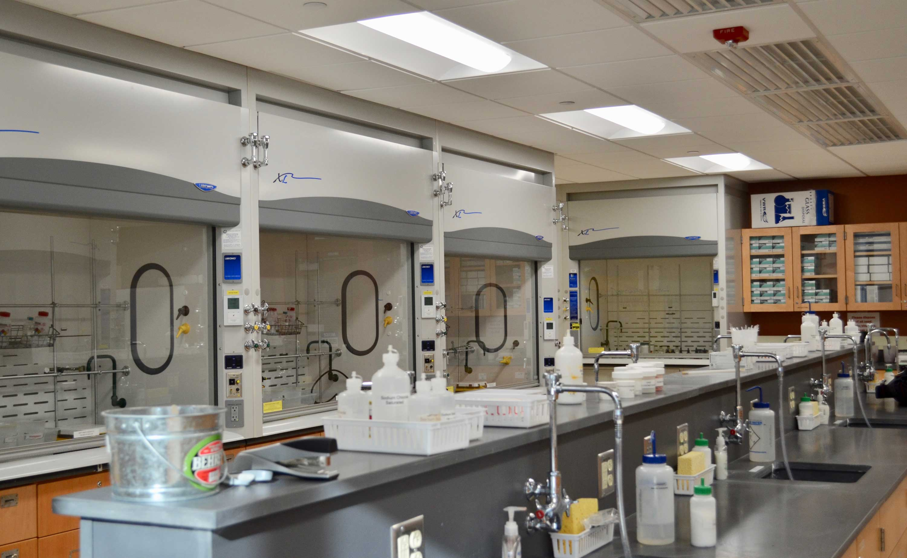 An empty lab area