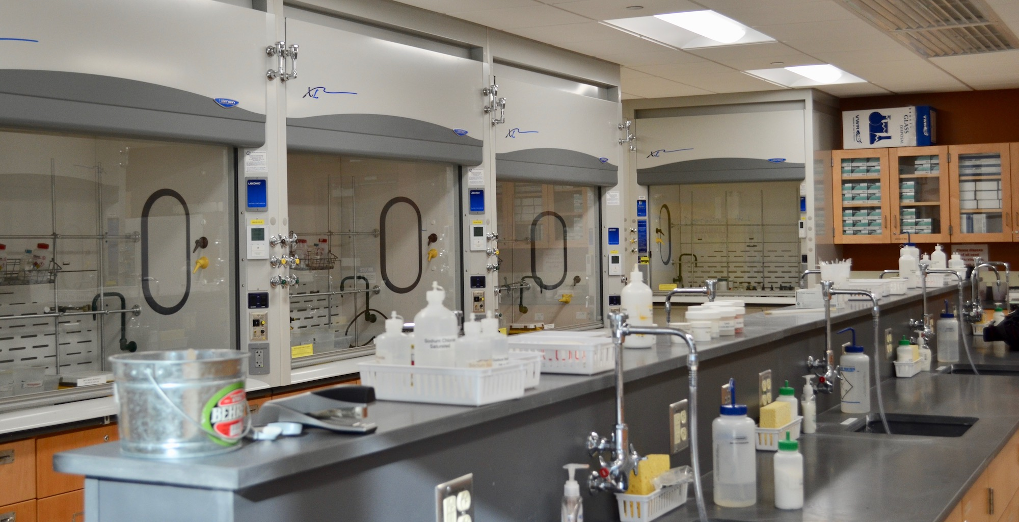 View of the organic lab