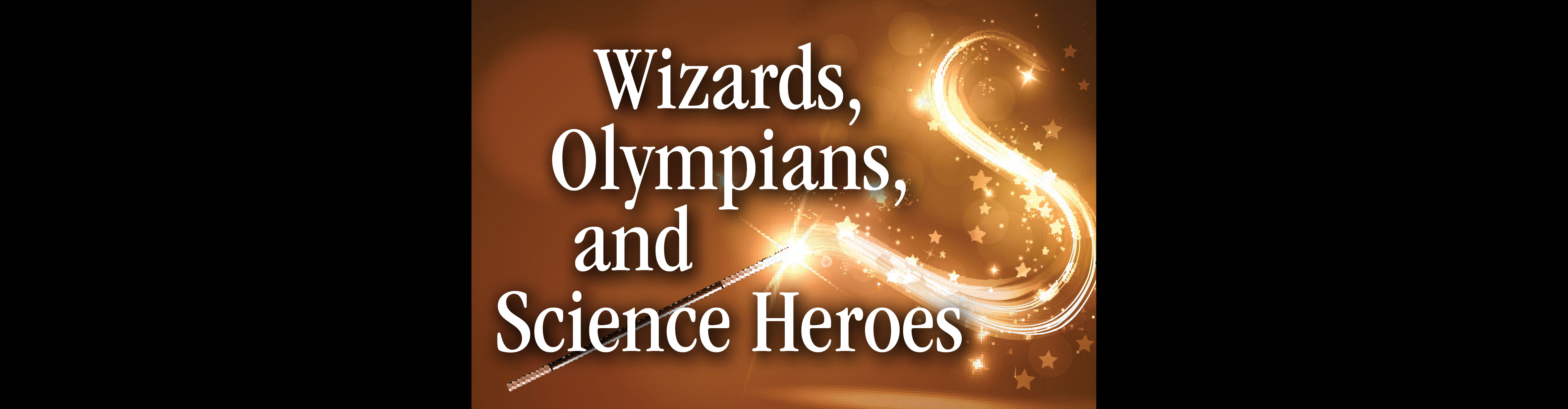Camp Logo for Wizards Camp- a wand trailing light and stars