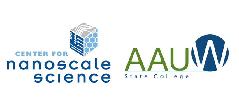 Sponsors of Science-U Scholarships logos: Center for Nanoscale Science and AAUW State College