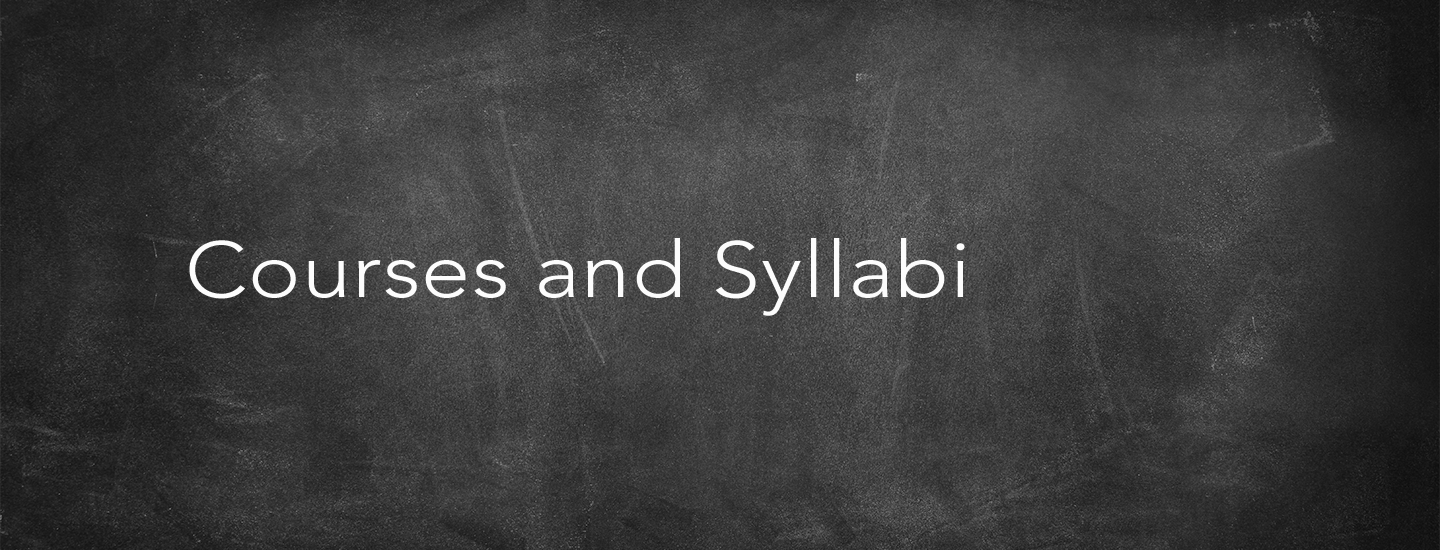 Courses and Syllabi