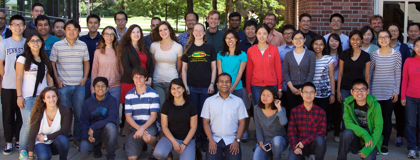 A group photo of faculty and students from the Department of Statistics.