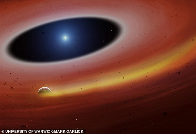 Artist's impression of dead planet core orbiting a white dwarf