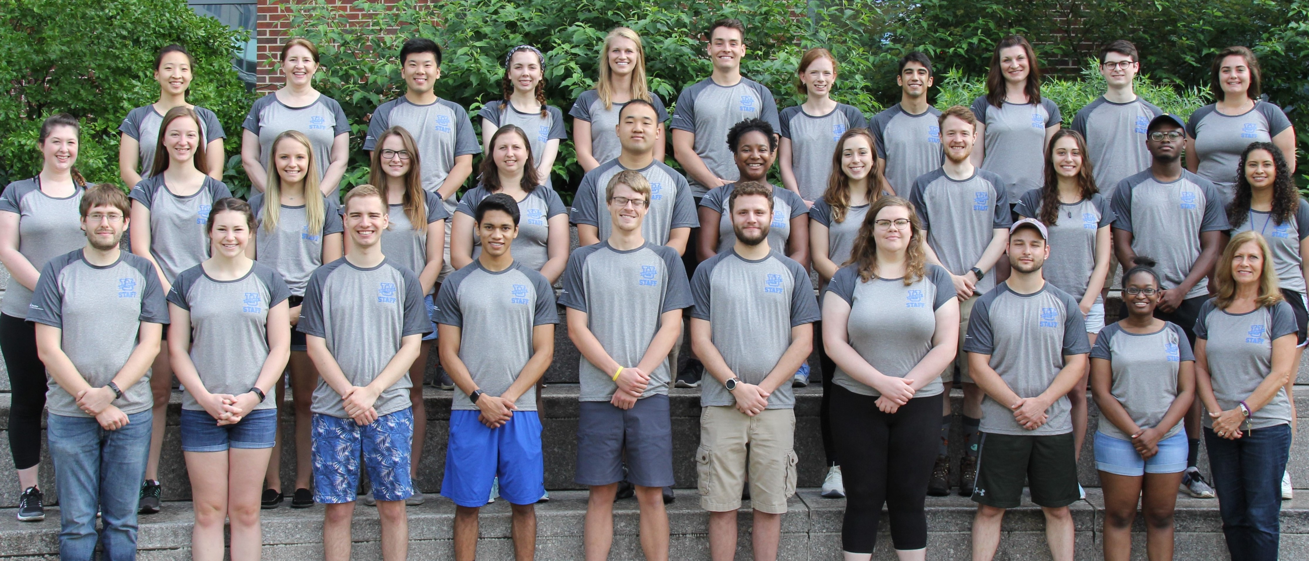 2019 Summer Staff posing for group photo