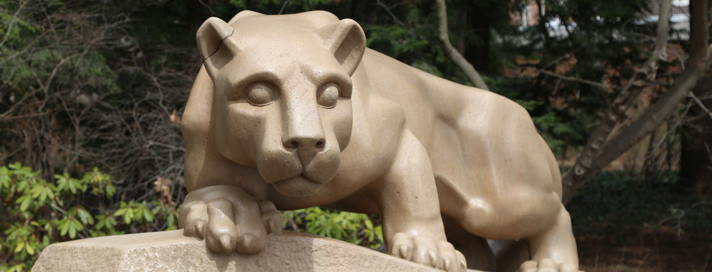The Nittany Lion Shrine at the University Park campus.