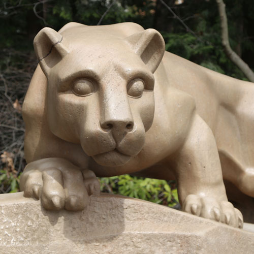 Nittany Lion Shrine at Penn State. Samia's photo will be available soon.