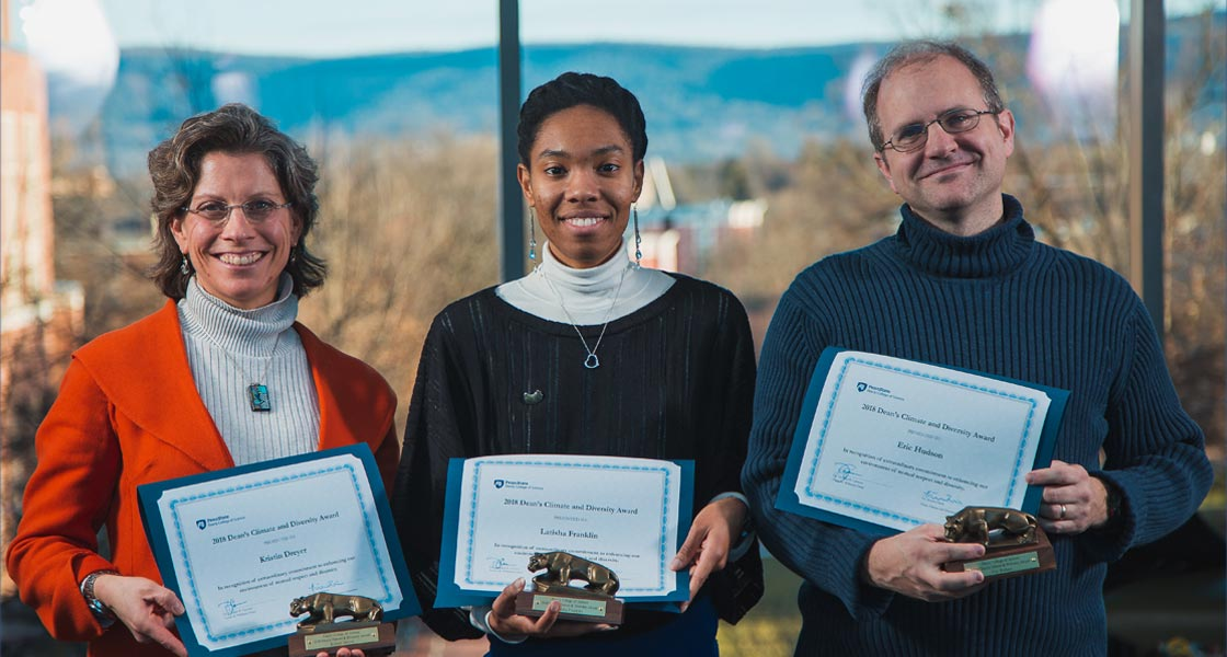 Climate and diversity award recipients from 2019.