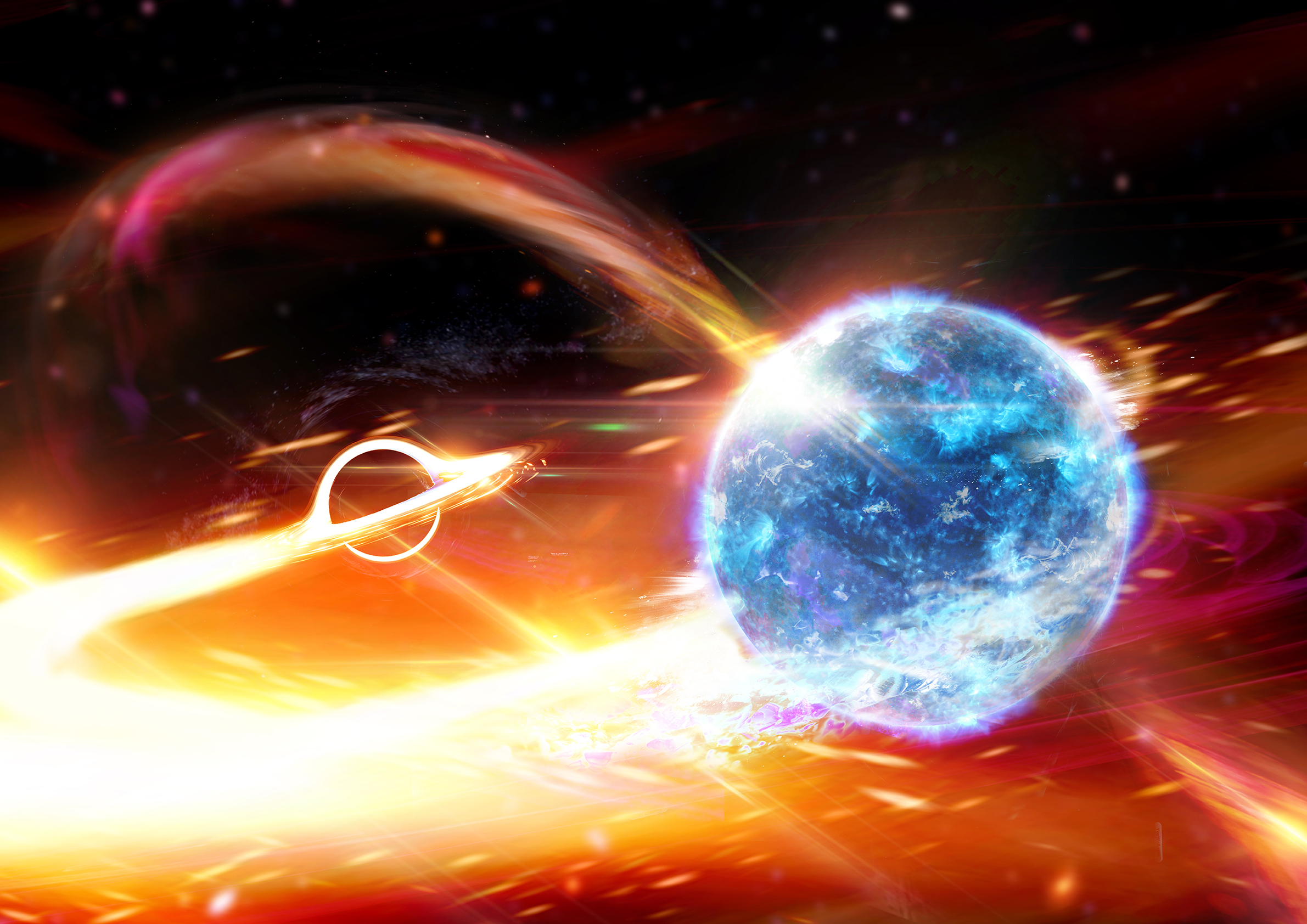 Artist's impression of mysterious astonomical object detected by LIGO