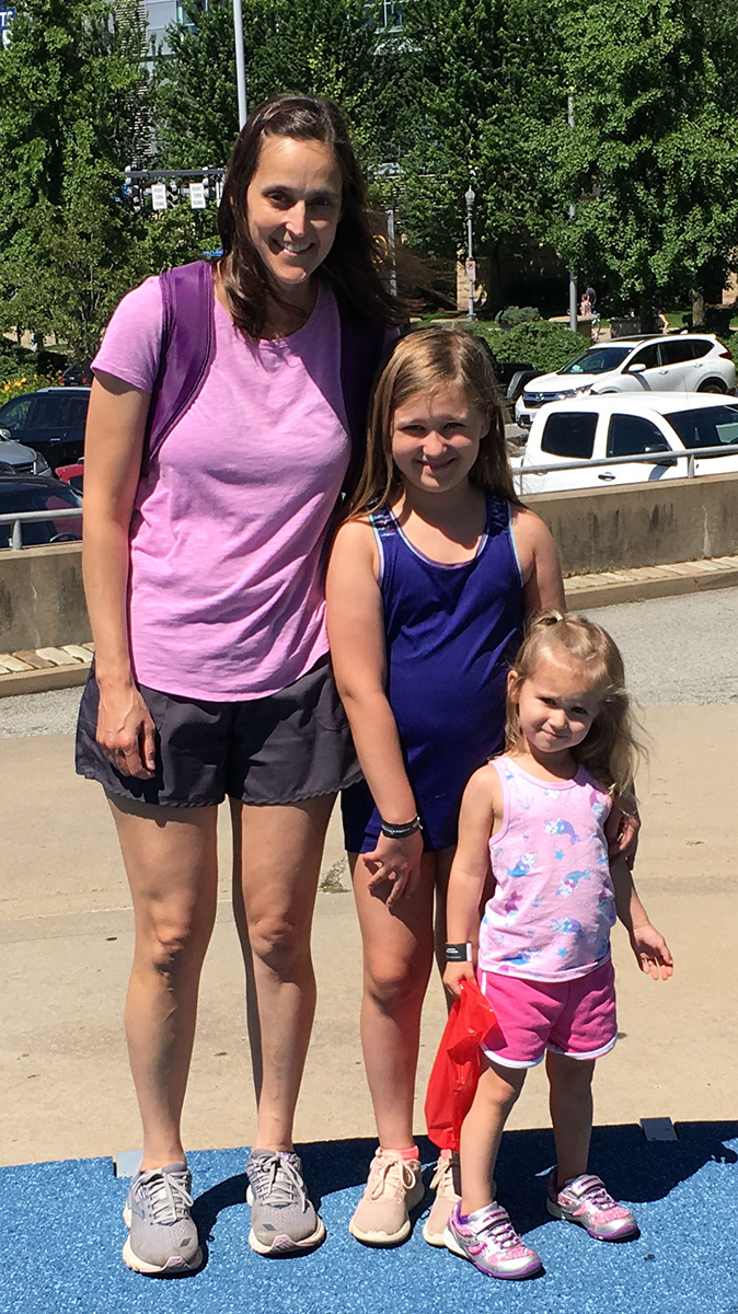 Michelle Stone with her daughters