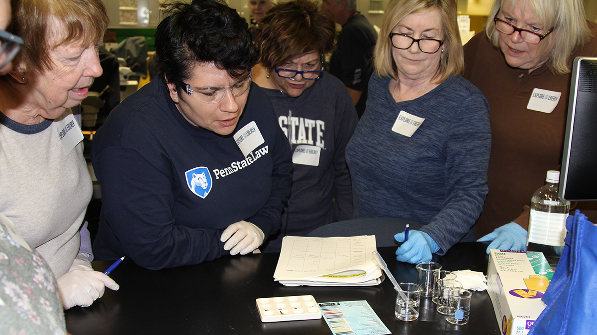 Explore with Eberly participants examine and compare samples of trace evidence, such as an unknown white powder found at the scene.