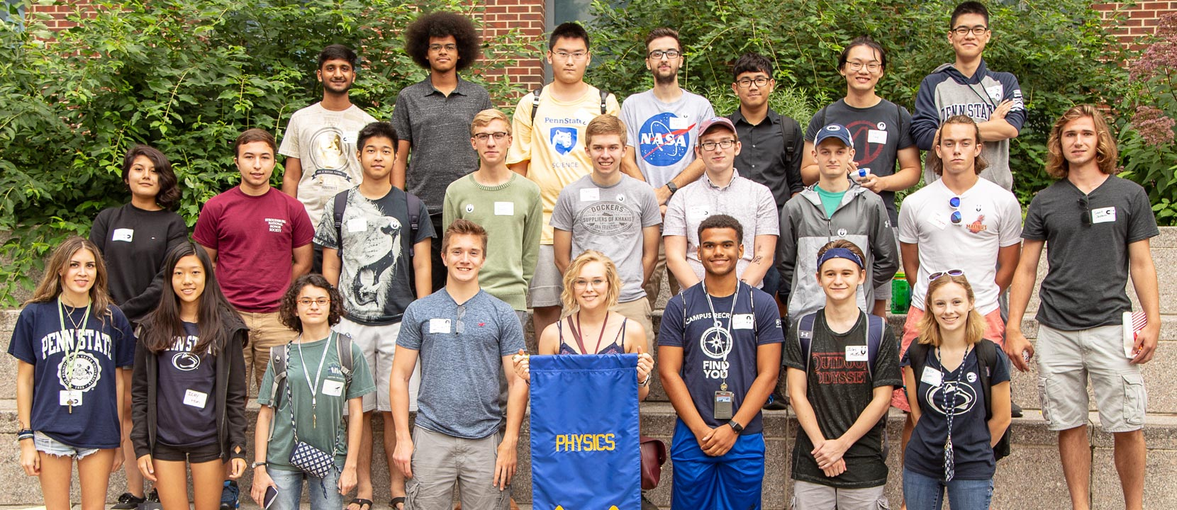 A new class of physics students the represent our commitment to a welcoming environment for everyone.