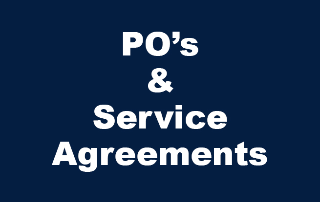 PO's and Service Agreements