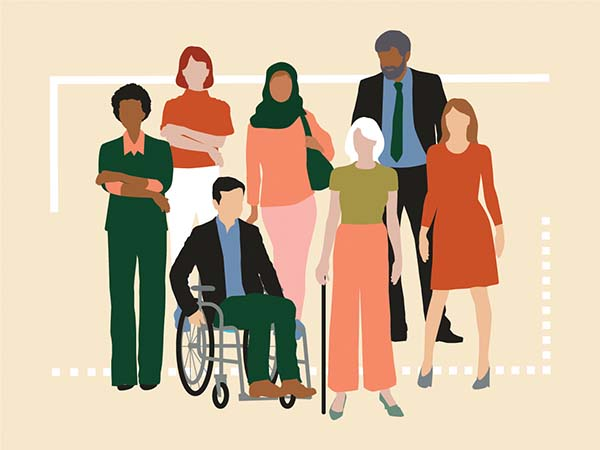 illustration of diverse group of people