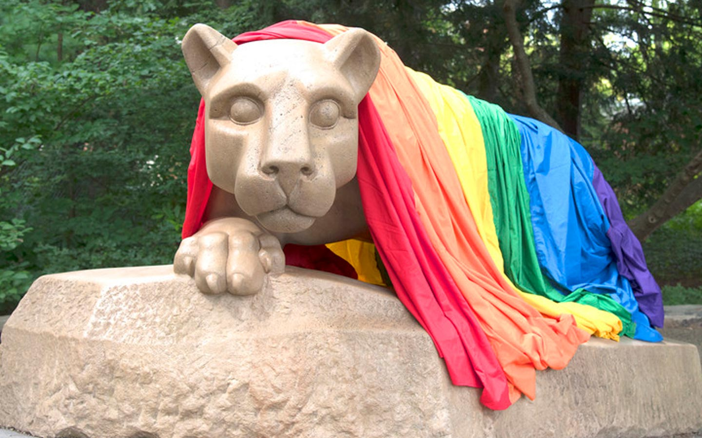 Nittany Lion Shrine Rainbow Science Network hero banner.