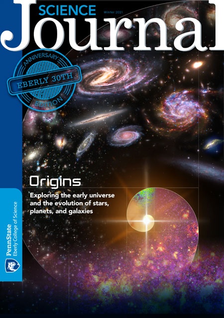 The cover of the Winter 2021 issue of the Science Journal for the college landing page.