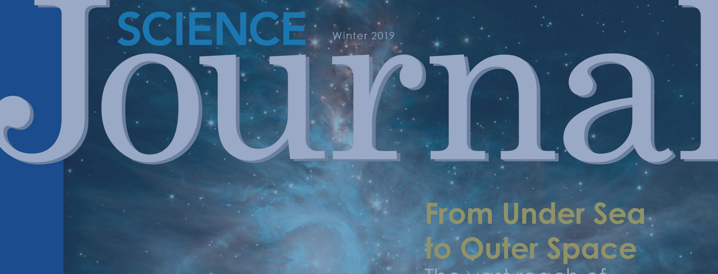 Winter 2019 Science Journal cover.