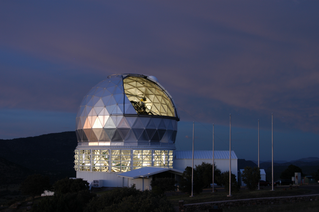 The Hobby-Eberly Telescope — one of the world's largest optical telescopes and a premier planet-finding facility, conceived by Penn State astronomers. Credit: Penn State