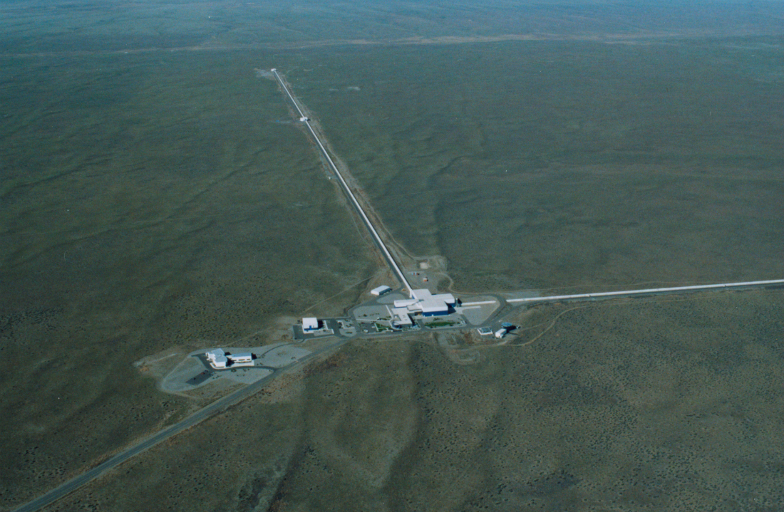 LIGO Laboratory operates two detector sites, one near Hanford in eastern Washington, and another near Livingston, Louisiana. This photo shows the Hanford detector site. Credit: Caltech/MIT/LIGO Lab