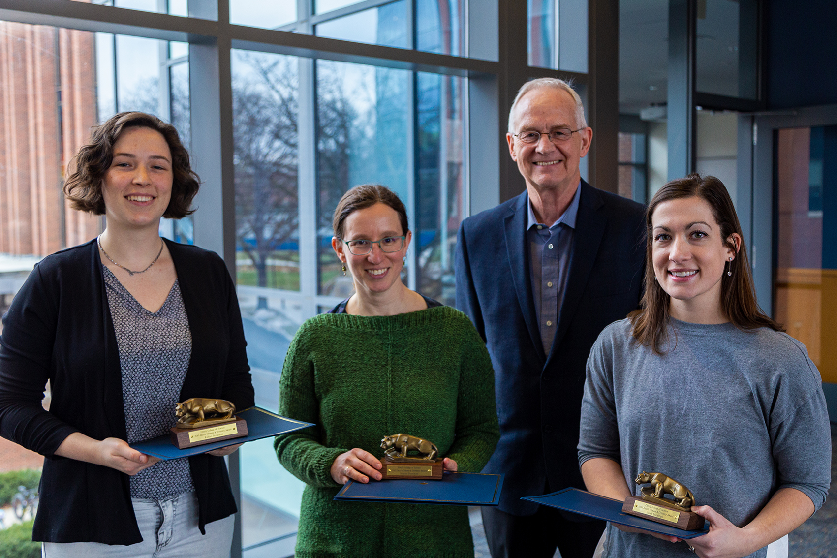 2019 Climate and Diversity Award winners pose with Dean Cavener