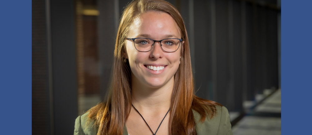 Eberly graduate student Claire Kelling, a dual major in statistics and social data analytics. Credit: Nate Follmer.