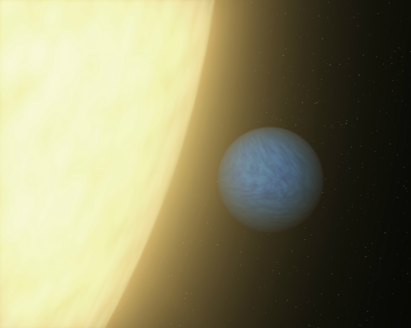 An artist's concept of super-Earth planet 55 Cancri e, which races around its host star once every 18 hours. New research led by Penn State astronomers improves our understanding of how large super-Earth planets with small, quick orbits form. Credit: NASA/JPL-Caltech