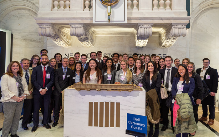 Photo from the New York Stock Exchange.