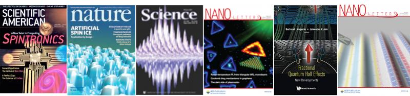 Cover articles for condensed matter physics