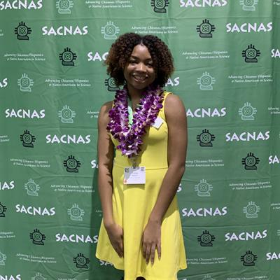 Image of Ananda Rankin at the annual SACNAS event