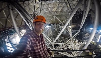 Stefansson with the Hobby Eberly Telescope