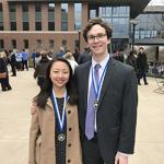 Image of Cuyler Luck and Sojong Kim, both selected as Eberly College of Science Commencement Marshals